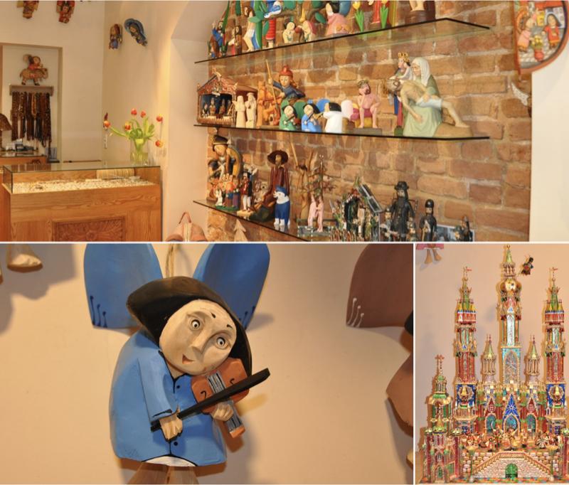 Drewniane ręcznie tworzone anioły i szopki bożonarodzeniowe doskonałe na upominek